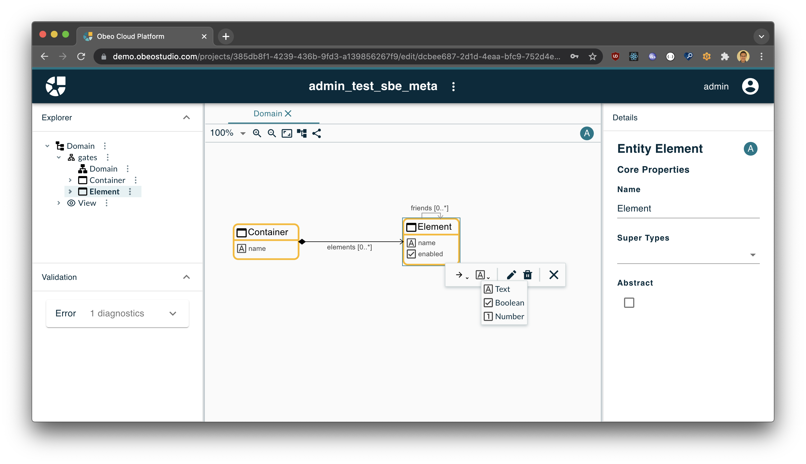 Integrating Sirius Web in a Cloud IDE